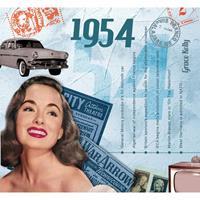 Fun & Feest Verjaardag CD-kaart met jaartal 1954