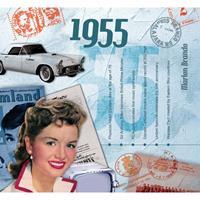 Fun & Feest Verjaardag CD-kaart met jaartal 1955