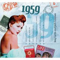 Fun & Feest Verjaardag CD-kaart met jaartal 1959