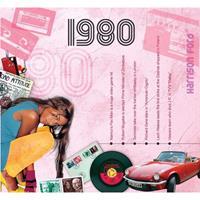 Fun & Feest Verjaardag CD-kaart met jaartal 1980