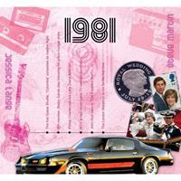Fun & Feest Verjaardag CD-kaart met jaartal 1981
