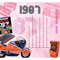 Fun & Feest Verjaardag CD-kaart met jaartal 1987
