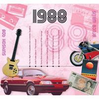 Fun & Feest Verjaardag CD-kaart met jaartal 1988