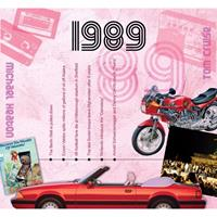 Fun & Feest Verjaardag CD-kaart met jaartal 1989