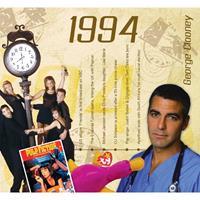 Fun & Feest Verjaardag CD-kaart met jaartal 1994