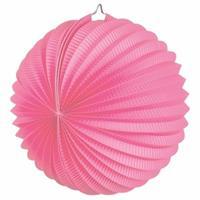 Fun & Feest Roze feest lampionnen 22 cm