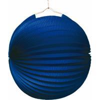 Fun & Feest Blauwe lampion 22 cm