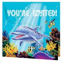Fun & Feest Oceaan uitnodigingen 8 stuks
