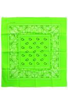 Coppens Bandana fluor groen
