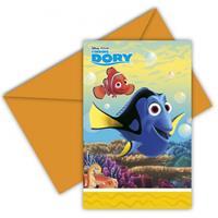 Disney Finding Dory uitnodigingen met enveloppe