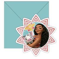 Disney Vaiana uitnodigingen met enveloppe