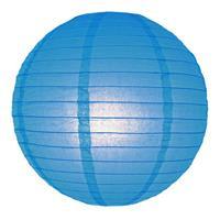 Fun & Feest Blauwe lampion rond 25 cm