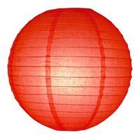 Fun & Feest Rode lampion rond 25 cm