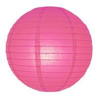 Fun & Feest Fuchsia roze bol lampion 25 cm