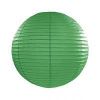 Fun & Feest Donker groene lampion rond 25 cm