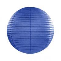 Fun & Feest Donker blauwe lampion rond 25 cm