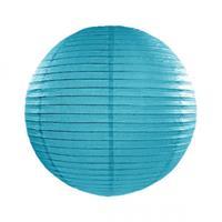 Fun & Feest Turquoise blauwe lampion rond 25 cm