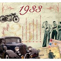 Fun & Feest Verjaardag CD-kaart met jaartal 1933