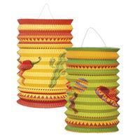 Fun & Feest Mexicaanse lampionnetjes 2 stuks