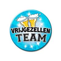 Bellatio XXL blauwe vrijgezellen team button