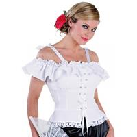 Oktoberfest - Tiroler blouse Carmen wit 44 Wit