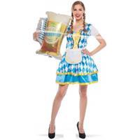 Oktoberfest - Tiroler beieren jurkje blauw Multi