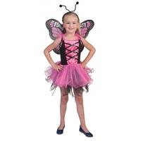 Bellatio Roze vlinderjurkje voor meisjes