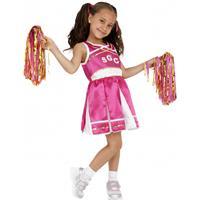 Smiffys Roze cheerleader meisjes kostuum Roze