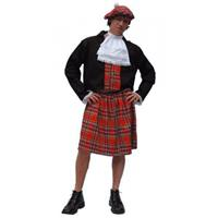 Bellatio Schotse kilt kostuum heren 56 (XL)