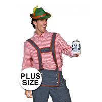 Bellatio Oktoberfest - Grote maten Tiroler blouse heren Rood