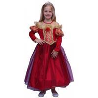 Bellatio Rode prinsessen jurk voor meisjes