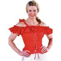 Oktoberfest - Tiroler blouse Carmen rood 44 Rood