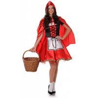 Bellatio Roodkapje kostuum met capeRood