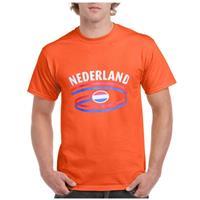 Shoppartners Oranje t-shirt Nederland heren Oranje