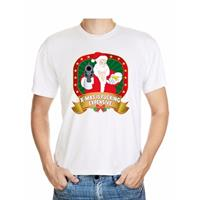 Shoppartners Foute Kerst t-shirt wit X-mas is fucking expensive voor heren