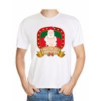 Shoppartners Foute Kerst t-shirt wit take me it's christmas Multi