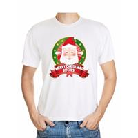 Shoppartners Foute Kerst t-shirt merry christmas bitches voor heren