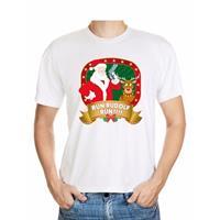 Shoppartners Foute Kerst t-shirt Run Rudolf voor heren
