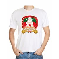 Shoppartners Foute Kerst t-shirt Santa is almost coming voor heren