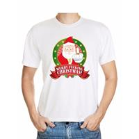 Shoppartners Foute Kerst t-shirt wit Merry Fucking Christmas voor heren