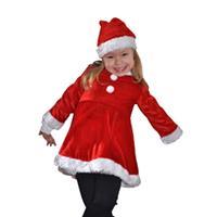 Bellatio Fluwelen kinder kerstjurk Rood