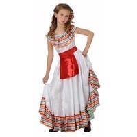 Atosa Mexicaans meisje kostuum met rood schortje (10-12 jaar) Multi