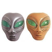 Bellatio Alien masker plastic oranje