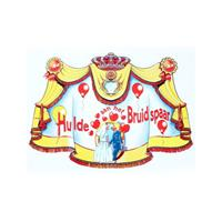 Kroonschild hulde aan het bruidspaar
