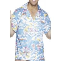 Smiffys Blauw hawaii shirt
