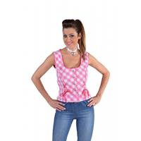 Bellatio Oktoberfest - Tiroler shirt mouwloos roze 36 (XS) Roze