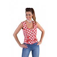 Bellatio Oktoberfest - Tiroler shirt mouwloos rood 36 (XS) Rood