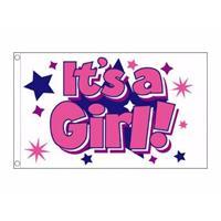 Bellatio Meisjes geboorte vlag 90 x 150 cm