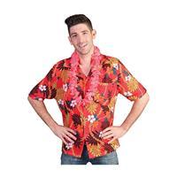 Bellatio Rode Hawaii blouse met tropische print Rood