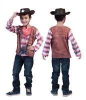 Bellatio Cowboy shirt met 3D print voor kids